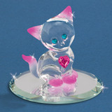 Crystal Kitty Glass Figurine GM6690