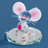Too Cute Mouse Glass Figurine GM6707