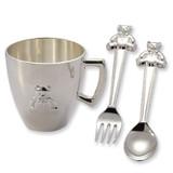 Silver-plated Baby Bear Feeding Set GM6901