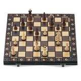Walnut Finish Wooden Chess Set GM8542