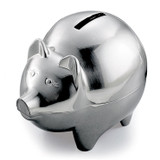 Pewter Finish Pig Bank GM9092