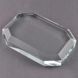 Octagonal Glass Paperweight GM9335