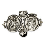 Saint Christopher & Guardian Angel Sun-visor Clip GM944