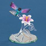 Rainbow Dragonfly Glass Figurine GM9447