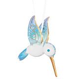 Blue Hummingbird Glass Ornament GM9448