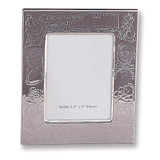 Silver-plated Birth Record 3.5 x 5 Inch Picture Frame GP571