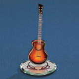 Sunburst Acoustic Guitar Glass Figurine GP6065