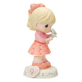 Precious Moments Growing in Grace Age Nine Porcelain Figurine GP727