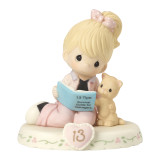 Precious Moments Growing in Grace Age Thirteen Porcelain Figurine GP731