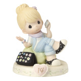 Precious Moments Growing in Grace Age Fourteen Porcelain Figurine GP732