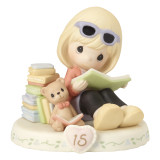Precious Moments Growing in Grace Age Fifteen Porcelain Figurine GP733