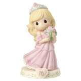 Precious Moments Growing in Grace Age Sixteen Porcelain Figurine GP734
