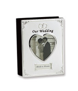 Silver-plated Our Wedding (Holds 40- 4x6 Photos) Photo Album GP8466