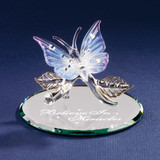 Butterfly Believe in Miracles Glass Figurine GP921