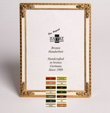 Haffke Bronze Enamel Picture Frame with Rose 2.5 x 3.5 Inch