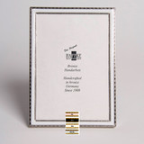 Haffke Silver Enamel Picture Frame without Rose 2.5 x 3.5 Inch