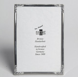 Haffke Silver with Rose Picture Frame 2.5 x 3.5 Inch