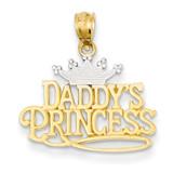 Daddys Princess Pendant 14k Gold K2702