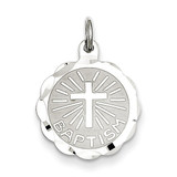 Baptism Disc Charm Sterling Silver QC2396
