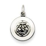 Antiqued Baptismal Medal Sterling Silver QC5820