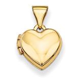 Plain Heart Locket 14k Gold XL304