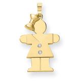 Diamond Kid Pendant 14k Gold XK461AA