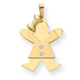 Diamond Kid Pendant 14k Gold XK462AA