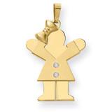 Diamond Kid Pendant 14k Gold XK463AA