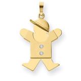 Diamond kid pendant 14k Gold XK466AA