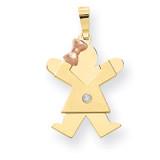 Diamond Kid Pendant 14k Two-tone Gold XK478AA