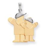Big Boy & Little Boy Engravable Charm 14k Two-tone Gold XK639