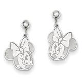Disney Minnie Dangle Post Earrings Sterling Silver WD130SS
