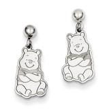 Disney Winnie the Pooh Dangle Post Earrings Sterling Silver WD164SS