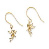 Disney Tinker Bell Dangle Wire Earrings 14k Gold WD256Y