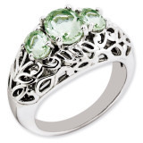 Oval Green Quartz Ring Sterling Silver QR3278AG