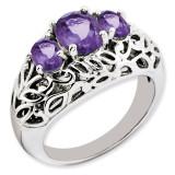 Amethyst Ring Sterling Silver QR3278AM
