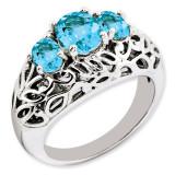 Swiss Blue Topaz Ring Sterling Silver QR3278BT