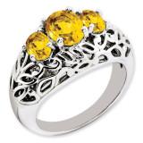 Citrine Ring Sterling Silver QR3278CI