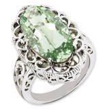Green Quartz Ring Sterling Silver QR3281AG