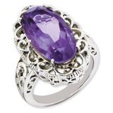 Amethyst Ring Sterling Silver QR3281AM