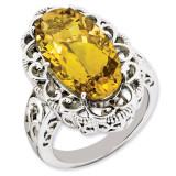 Citrine Ring Sterling Silver QR3281CI