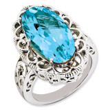 Light Swiss Blue Topaz Ring Sterling Silver QR3281LSBT