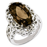 Smoky Quartz Ring Sterling Silver QR3281SQ
