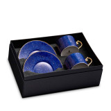 L'Objet Lapis Tea Cup Saucer Set of 2