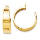 Hoop Earring Jackets 14k Gold Polished E633J UPC: 658226125962