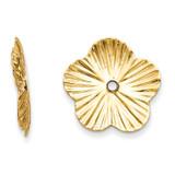 Fancy Earring Jackets 14k Gold Polished E995 UPC: 658226124842