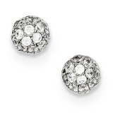 Micro Pave Small Post Earrings Sterling Silver QE9235
