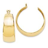 Hoop Earring Jackets 14k Gold Polished S1390 UPC: 658226126952