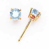 Aquamarine Post Earrings 14k Gold, MPN: XE71AQ-B, UPC: 883957336435