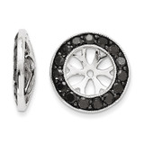 Black Diamond Earring Jackets 14k White Gold XJ137A